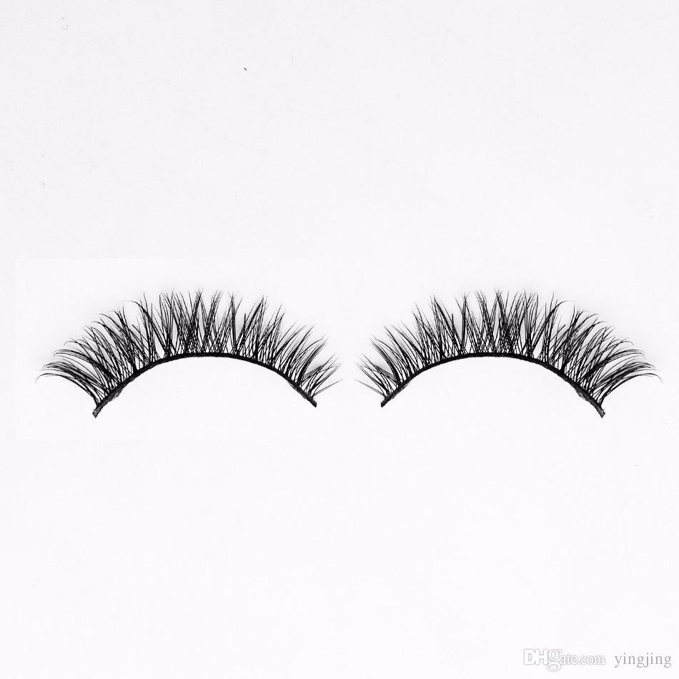 1 Soft Lady Make-up 3D Mink False Eyelashes Eyelashes Long Black Nautral Hand Make-up Beauty Tools