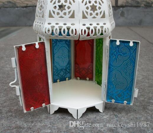 European Style Castle iron Style Candle Holders Wind Lamp Birthday Gift Wedding Props Candlestick Home Decorative Iron Candle Holders