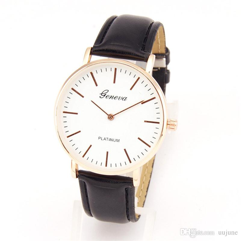 b81947d4149 Compre Original 2017 Das Mulheres Dos Homens Relógios De Pulso De Quartzo  Top Marca De Luxo Famoso Relógio New Barato Esportes De Couro De Quartzo  Relógio ...