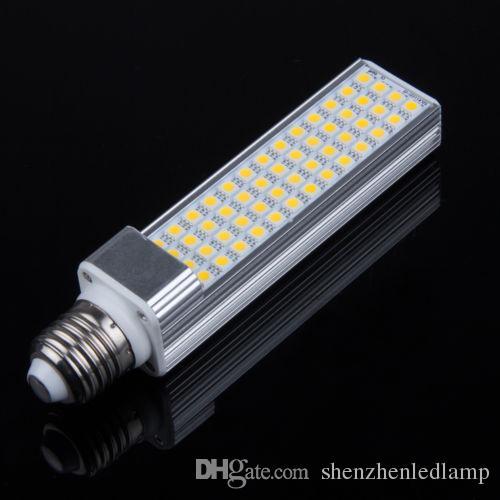 13W 5050 SMD 52 LED E27 / G24 / G23 lampadina a led a luce calda Bianco caldo / naturale Bianco / Freddo AC110-240V 1300lumi da Fedex / DHL 20 pz / lotto