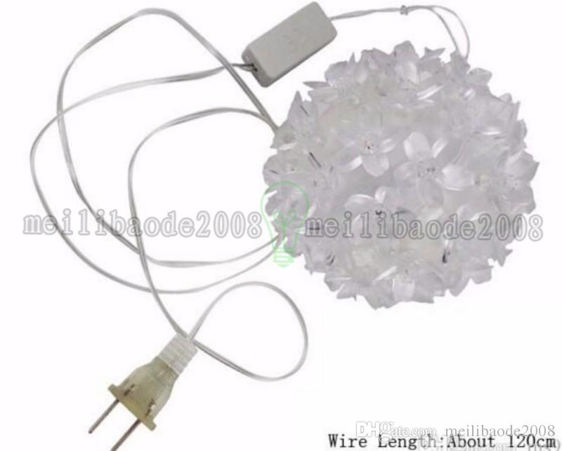 Urlaub Beleuchtung 10 CM 50 LEDs Bunte Blume Ball Wasserdichte Licht Fee Girlande Decor Lampen Outdoor Weihnachten LED Dekoration MYY
