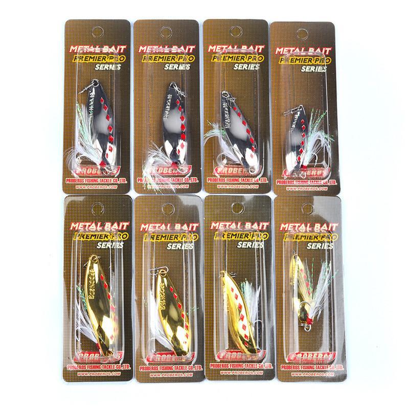 Brand Spoon Fishing Baits 5g 10g 15g 20g Silver/Gold Atificial Metal VIB Blades lure Spinner bait
