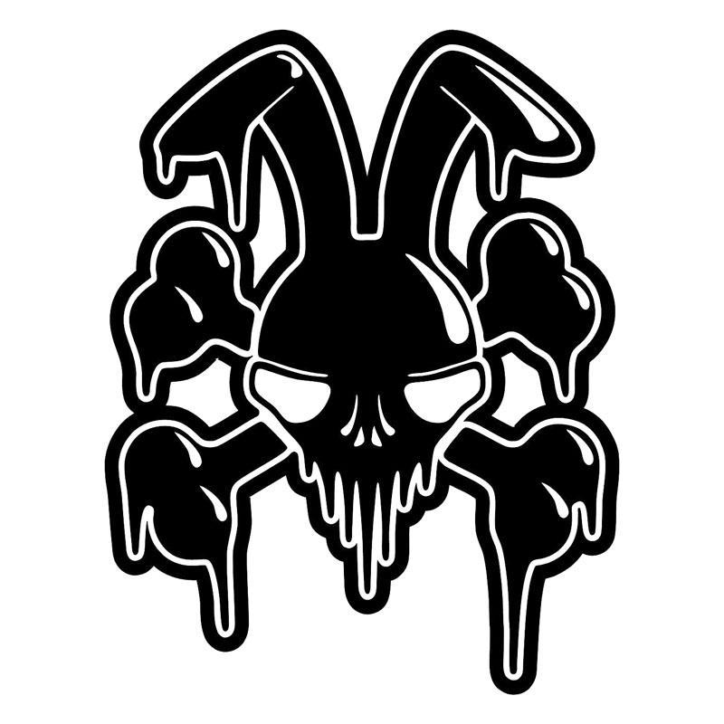 Compre Mal Conejo Skull Graffiti Vinyl Car Styling Interesante