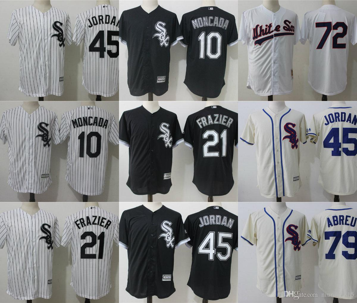 499ce4e5a8c ... promo code for 2018 mens chicago white sox 45 21 michael todd frazier  jordan baseball jerseys
