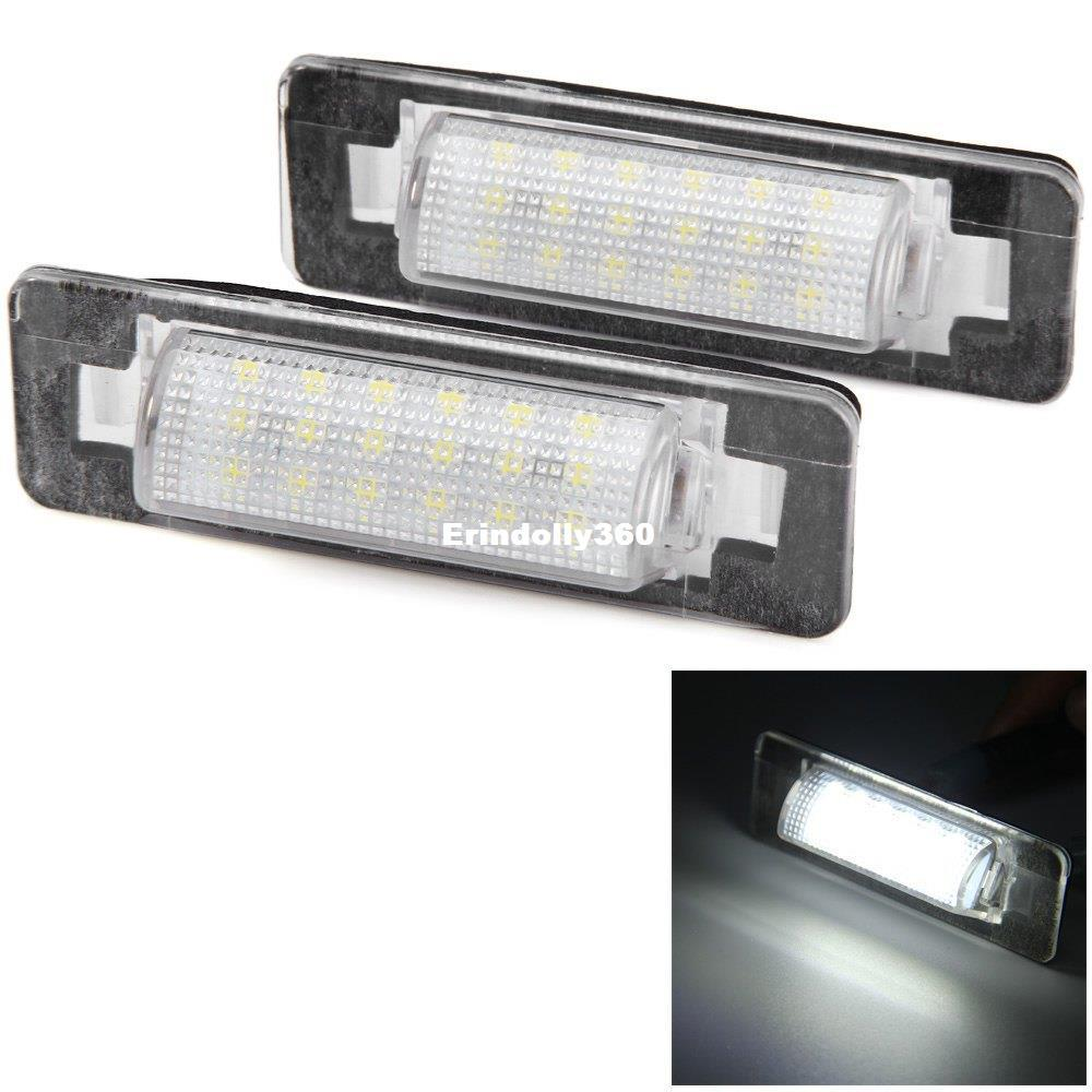 2pcs For Benz W210 W202 4D Car License Plate Light 12V SMD 3528 White Lights 18 LEDs Lamp Replacing Warning External Light