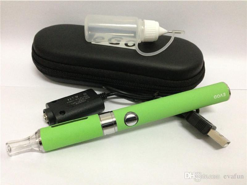 EVOD MT3 starter kit eGo zipper kits eGO Battery 650mah 900mah 1100mah and MT3 atomizer vapor vaporizer