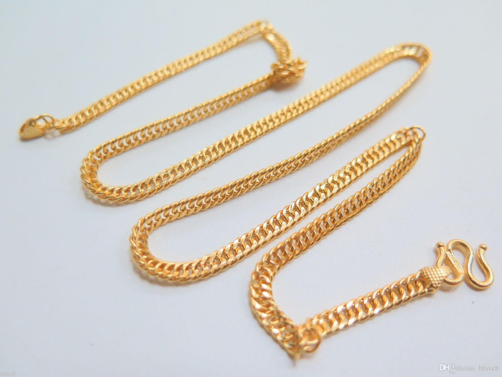 l chain necklace gold men chains cross smooth rope real women gf