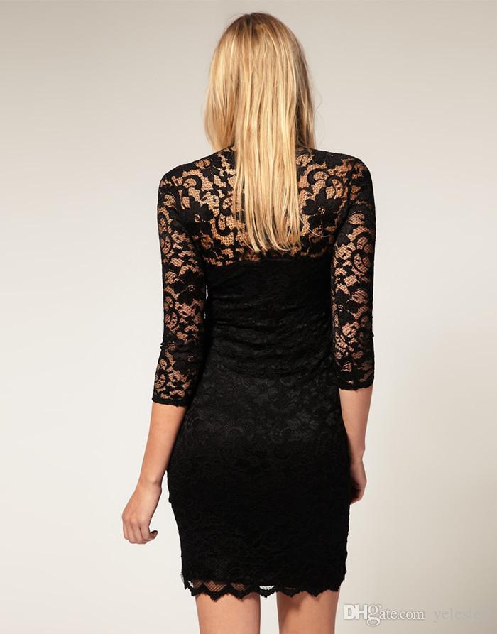 새 Bodycon Peplum 꽃 레이스 드레스 꽃 Vestidos 슬래시 o 목 섹시한 짧은 저녁 여성 드레스 의류 플러스 크기 블랙 화이트 M - 6XL