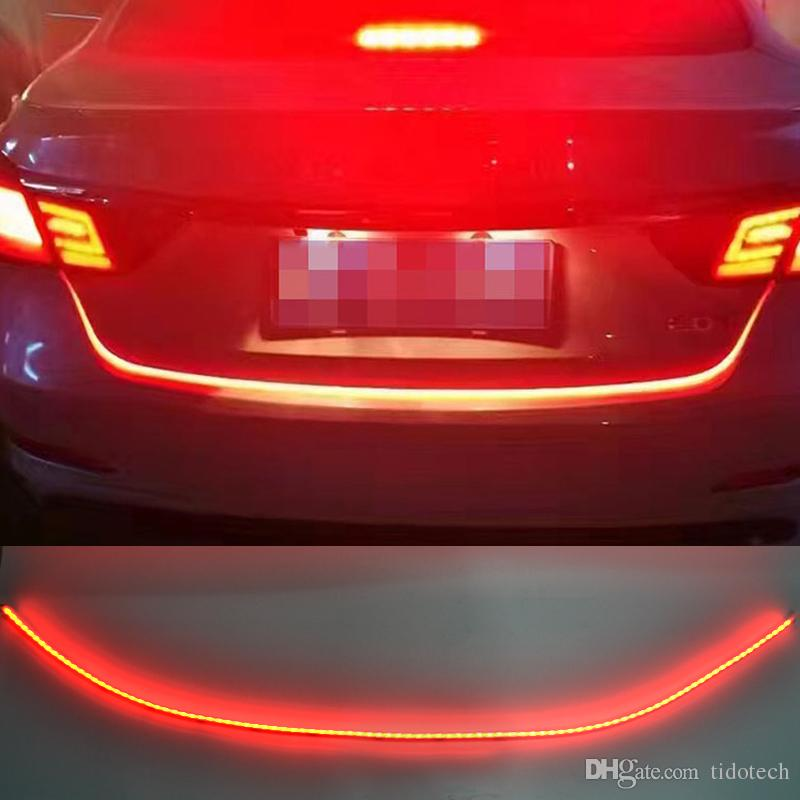 2019 Dual Color Flow Type Led Strip Car Tail Brake Light Drl On Trunk Box With Side Turn Signals Rear Lights From Tidotech 30 16 Dhgate Com