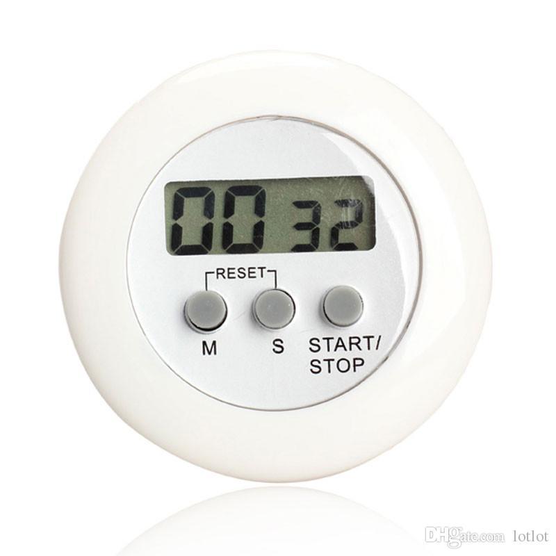 Digital LCD Minuterie Stop Montre Cuisine Cuisine Couvre à rebours d'horloge Alarme Blanc La minuterie dans la cuisine