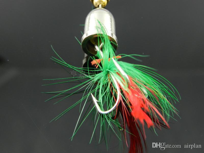de pesca duro cebo artificial cebo señuelo de plomo peces de metal señuelo de pesca con anzuelos de pesca cuchara de plumas spinnerbait Pesca