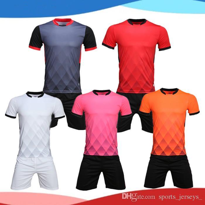 d355fd245 Online Cheap Customized Blank Soccer Jersey Shirts Football Jerseys Tops  With Shorts Sets Uniform