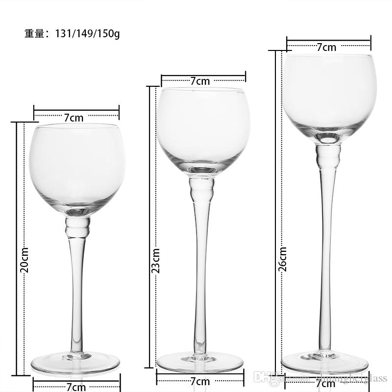 Cuenco claro Votive Glass Candle Holder Set Decorativo titular de la vela de la boda con el soporte de la boda Home Bar Party Decoration Adornos