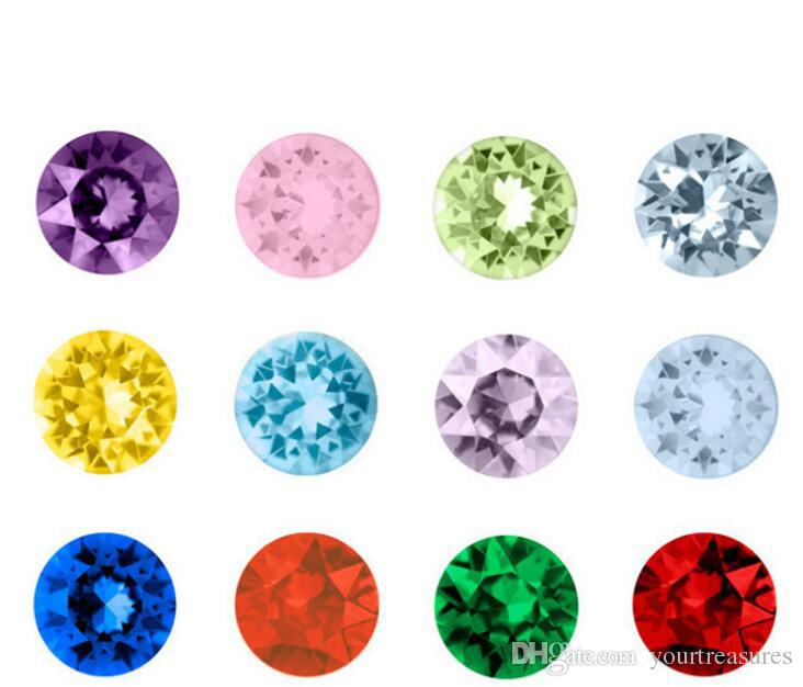 Crystal Beads Small Twinkling Birthstone Floating Charm for DIY Glass Floating Locket Accessories Easter Gifts