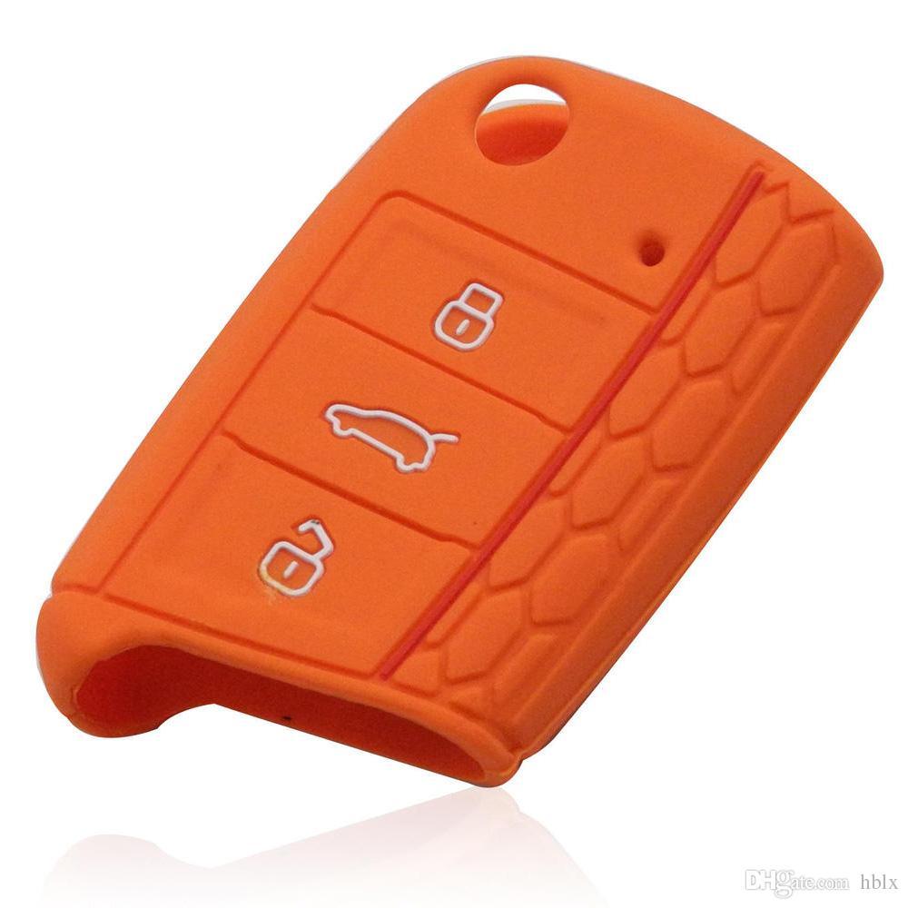 Custodia protettiva in silicone Volkswagen VW Golf 7 mk7 Skoda Octavia A7 Custodia protettiva con chiave Key Car Accessori AUP_40Z