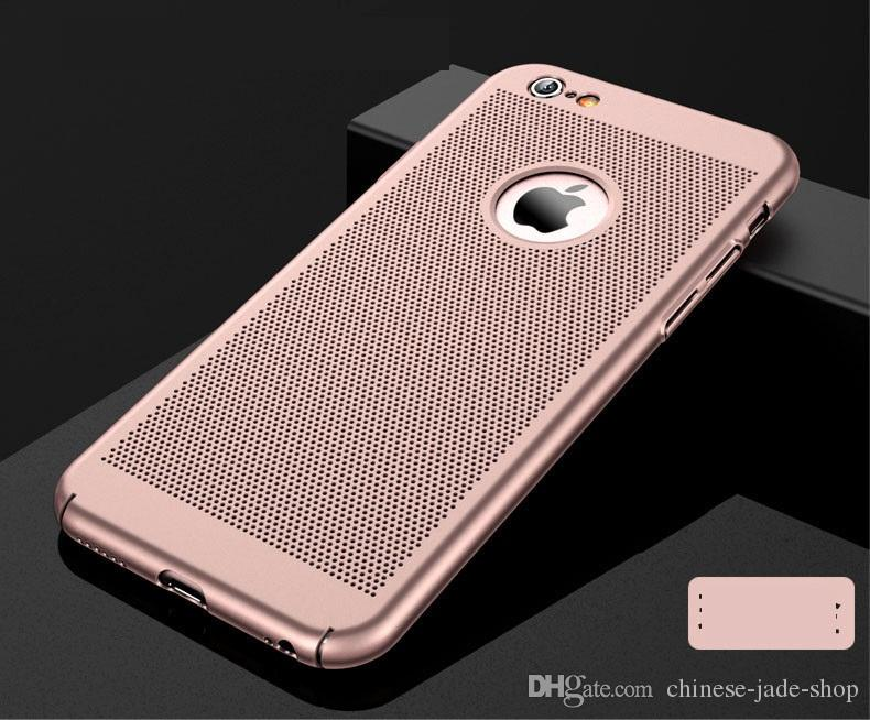 Volledige Cover Matte Slim Hard PC Mesh Case voor iPhone XS max 6 6S 7 8 Plus Grid Hollow Out Shell 100