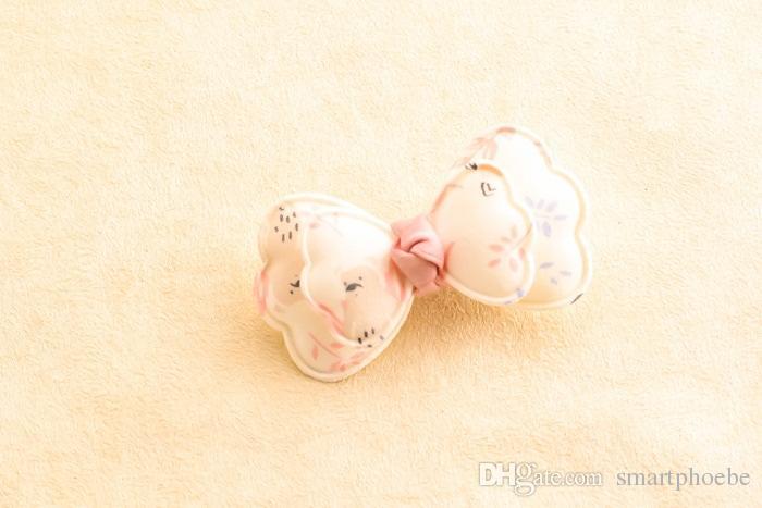 Boutique por atacado Estilo Coreano Moda Bonito Grampos de Cabelo Arco Floral Grampos de Cabelo Bowknot Sólidos Princesa Acessórios Para o Cabelo
