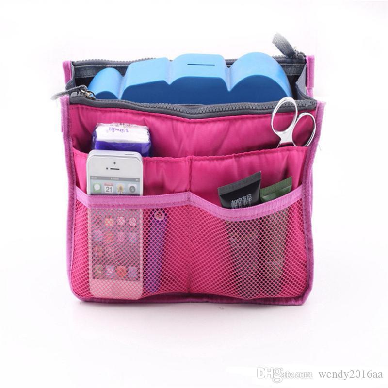 Saco de Cores Dupla Inserção Multi-função Bolsa de Maquiagem Saco de Bolso Saco Organizador de Lavar Cosméticos Bolsa