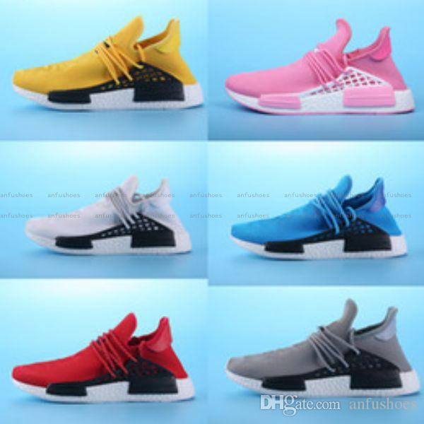 4f2bc49d67dfe 2017 Pharrell Williams HUMAN RACE In Yellow Red Black Blue Grey Green White  Men Women Classic Sport Sneakers Running Shoes Eur 36 45 Trail Running  Shoes ...