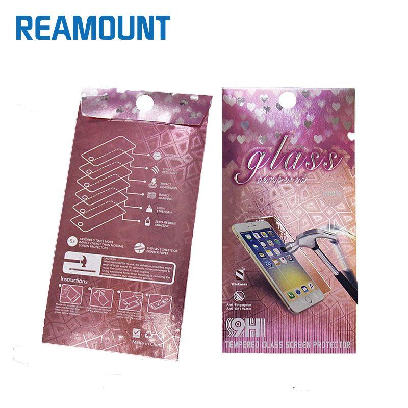 Drukowanie mody Logo Pakowanie papieru do ekranu Screen Protector Telefon Premium Harted Glass Screen Pudełko na iPhone 7 7Plus