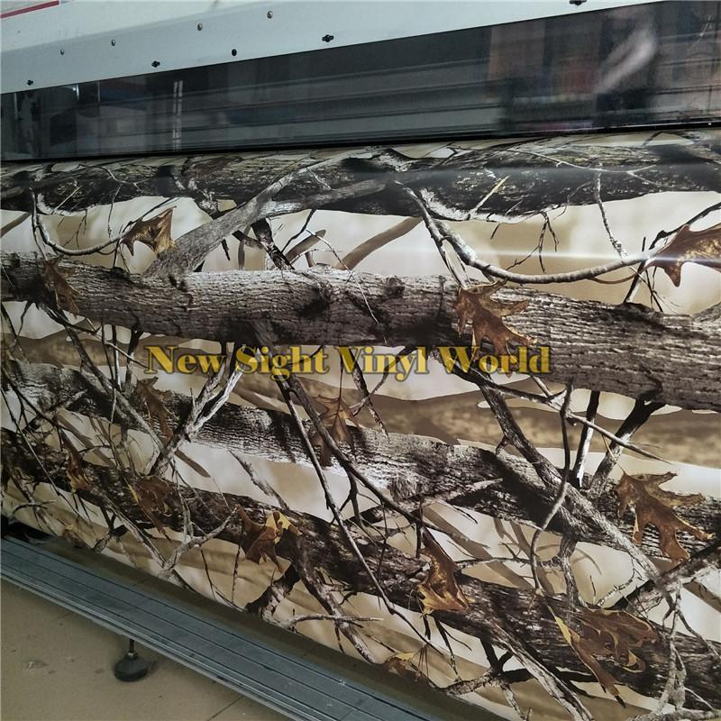 فقاعة REALTREE CAMO فينيل لفاف DECALS التمويه السيارات فيلم احباط الهواء مجانا طبيعة الصيد لشاحنة