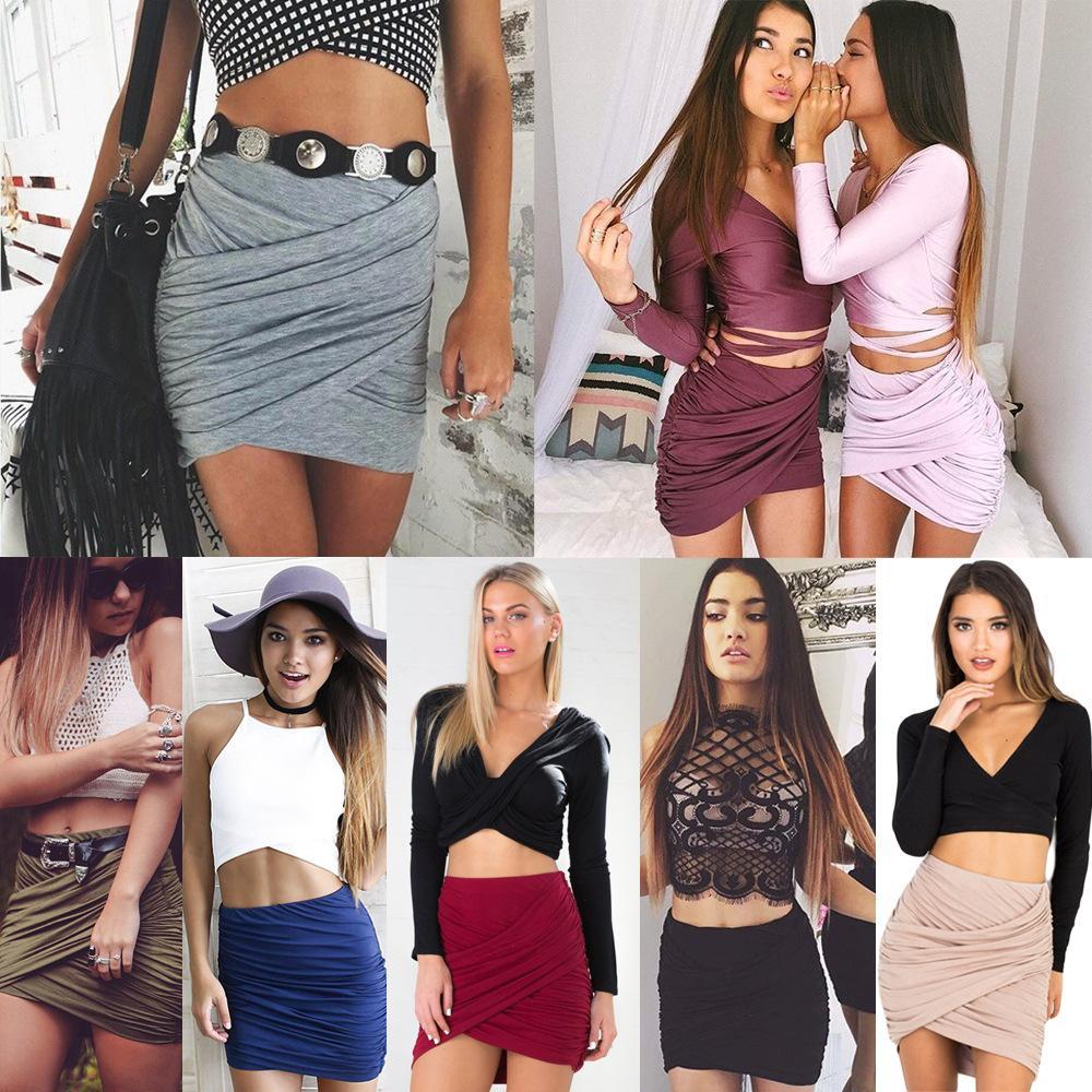 Women Short Mini Skirts Summer Hot Sexy Nightclub Pleated