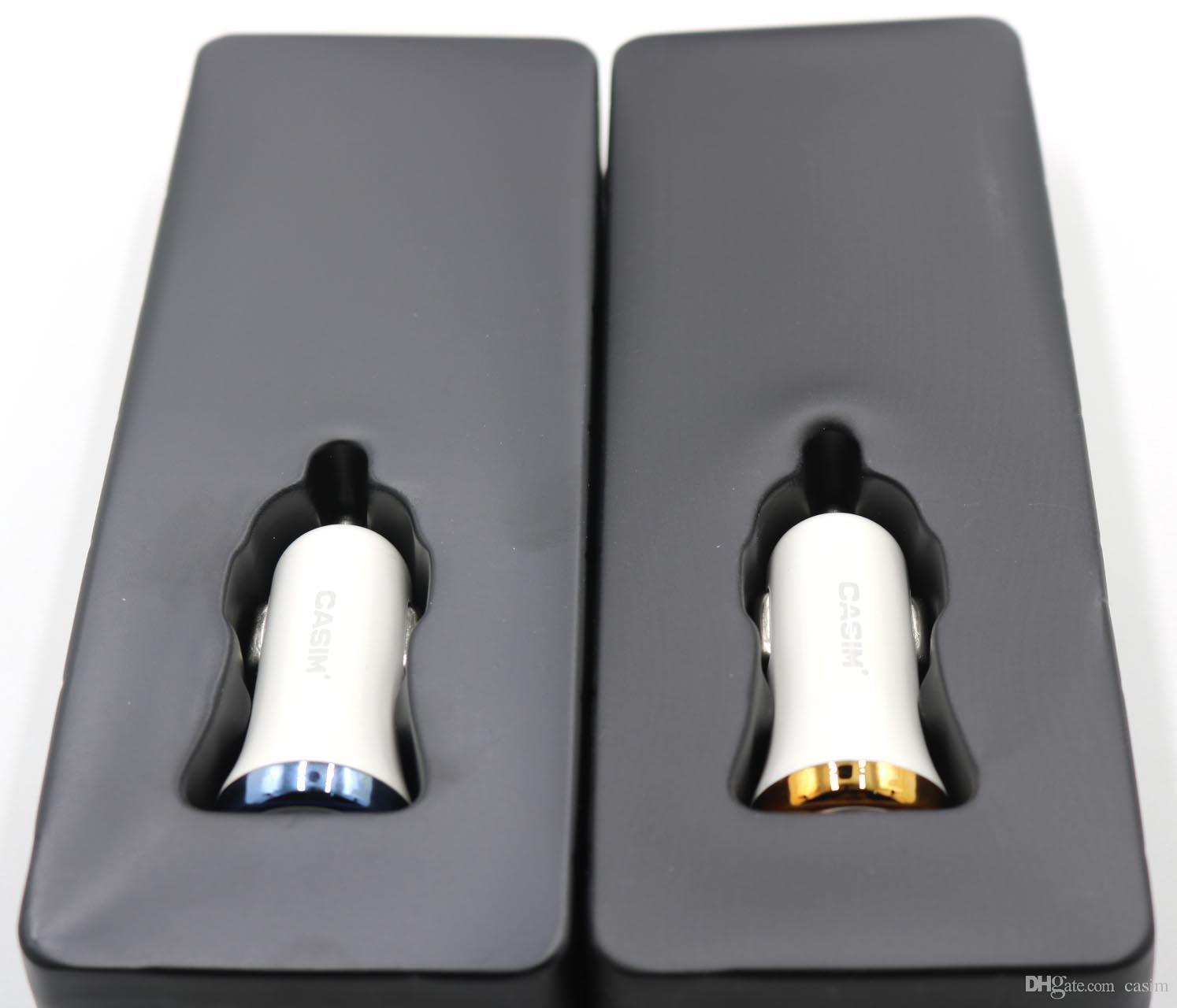 Casim Hızlı Şarj 3.0 24 W Çift USB Araç Şarj Adaptörü iphone 5 5 S 6 s8 7 Artı