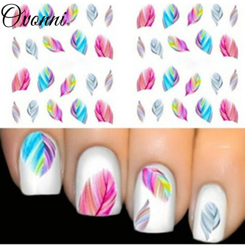 Wholesale Fashionable Nail Decorations Art Tips Feather Water ...