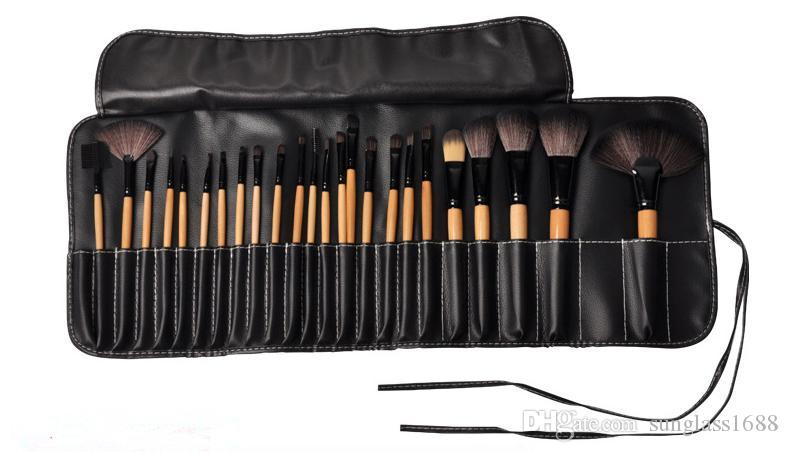 pinnk red wood Professional Persian Hair Kit makeup brushes Set With Soft Bag Case Beauty Eye Shadow
