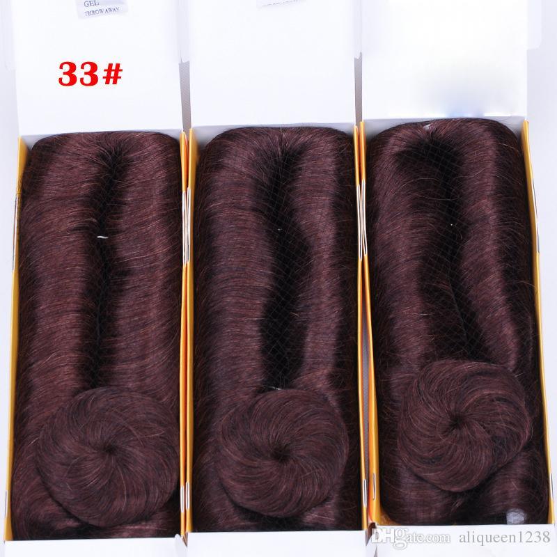 33 # Cor Curto Indiano Tecer Cabelo Humano Com Fechamento Livre Marrom Preto Loiro Vermelho Escuro 6 Cor Pode Escolher Entrega Gratuita