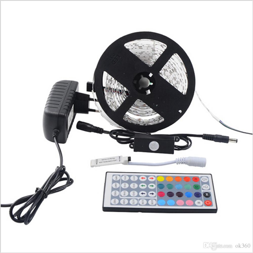 5m 5050 Rgb Waterproof Colorful Flexible Led Strip Smd 150/300 Leds ...