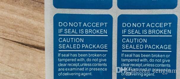 100 шт. / Лот 5.2 СМ * 3.0 СМ Печать Наклейка Наклейка Для SAMSUNG Galaxy S4 S5 S6 7 Примечание 5 J1 A3 Телефон Пакет коробка уплотнительная полоса