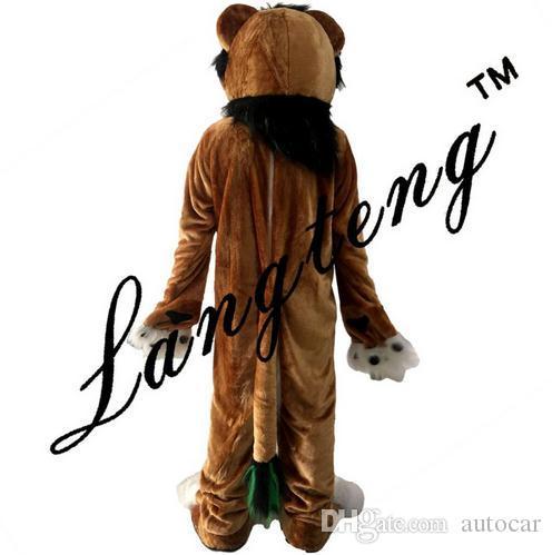 Costumes de mascotte de renard chien de lion brun pour les adultes du cirque noël Halloween Outfit Fantaisie Robe Costume Livraison gratuite real picture
