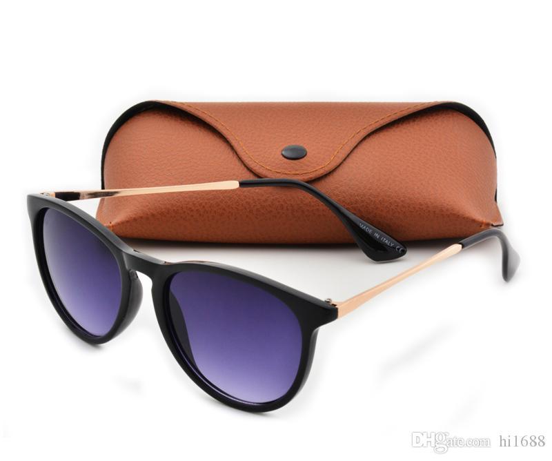 Adam Için en Kaliteli Yeni Moda Güneş Gözlüğü Kadın Erika Gözlük Marka Tasarımcısı Güneş Gözlükleri Matt Leopar Degrade UV400 Lensler Kutusu ve Kılıflar