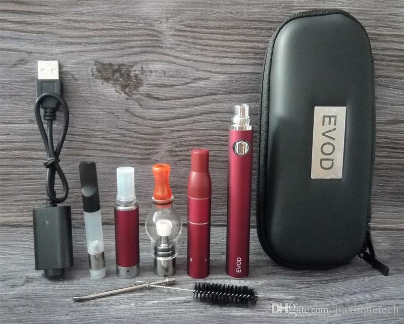 4 en 1 E Cigarette Starter Kit Verre Globe Wax Atomizer Ago G5 Vaporisateur Herb Vaporisateur Vape Cartouches Dab Pen Ecig Evod Batterie Kits
