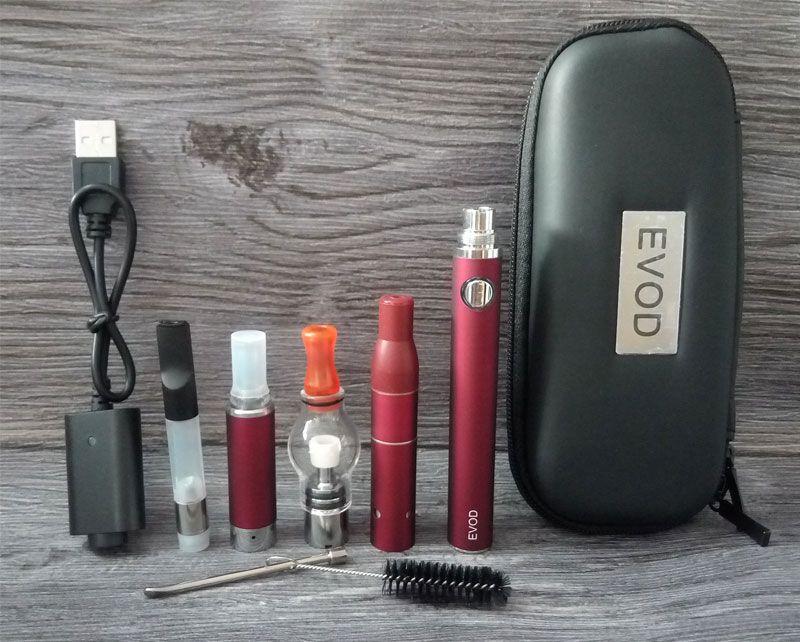 4 in 1 Vape Starter Kit Evod Ego 510 Fadenbatterie Glaskugel Wax Oil Zerstäuber Vor G5 Dry Herb Vaporizer Ce3-Patronen Vapes Dab Pen Kits