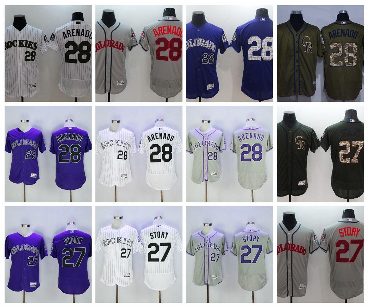 6eafe841f ... france majestic 28 colorado rockies mens mlb cool base ado rockies  baseball jersey 28 nolan arenado discount ...