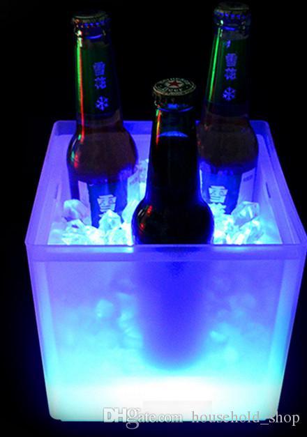 Illuminazione a LED Secchi da vino Secchiello ghiaccio Raffreddatori Doppia benna a ghiaccio Esplosione Promozione Durevole 2018 Nuova moda