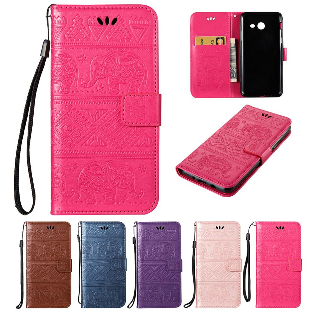 quality design af697 f0c11 For Samsung Galaxy J520 J5 2017 Wallet Case PU Leather Cover Holder Flip  Buckle Card Embossingt Kitty National Calf Elephant