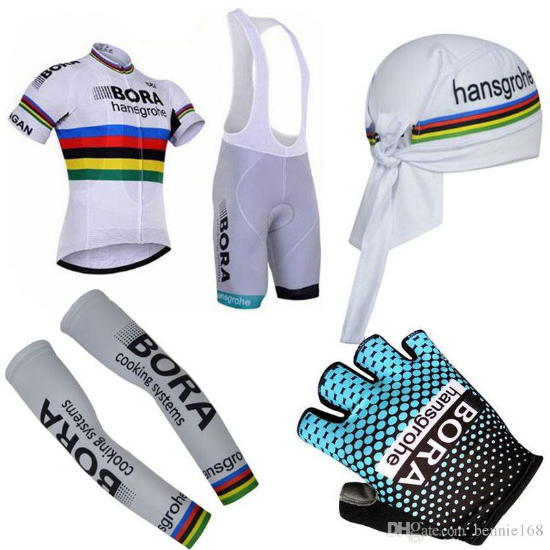 a6001356c Bora 2017 Short Sleeves Cycling Jerseys Set With Cycling Headband ...