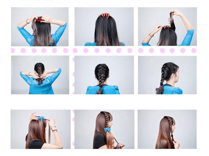 الشعر braider الجديل المصمم الإسفنج امرأة الملحقات ضفيرة تويست تصفيف الشعر تصفيف الشعر التضفير أدوات مجانية dhl