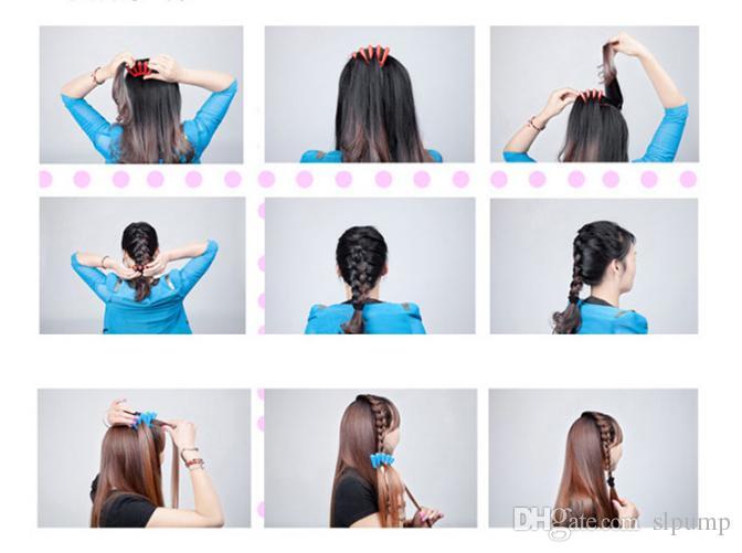 Tresse Braider Tresse Styliste Éponge Femme Accessoires Tresse Tresse Cheveux Styling Tressage Des Outils de Coiffure libre DHL