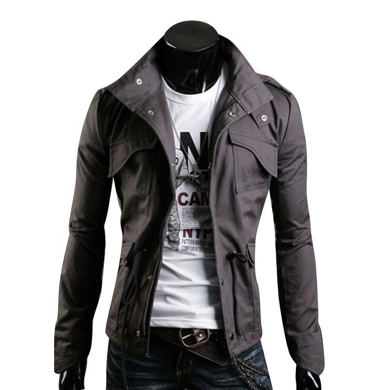 Mens Jackets Designer | Design Spring Men Jacket Stand Collar Personality Basic Jackets Mens