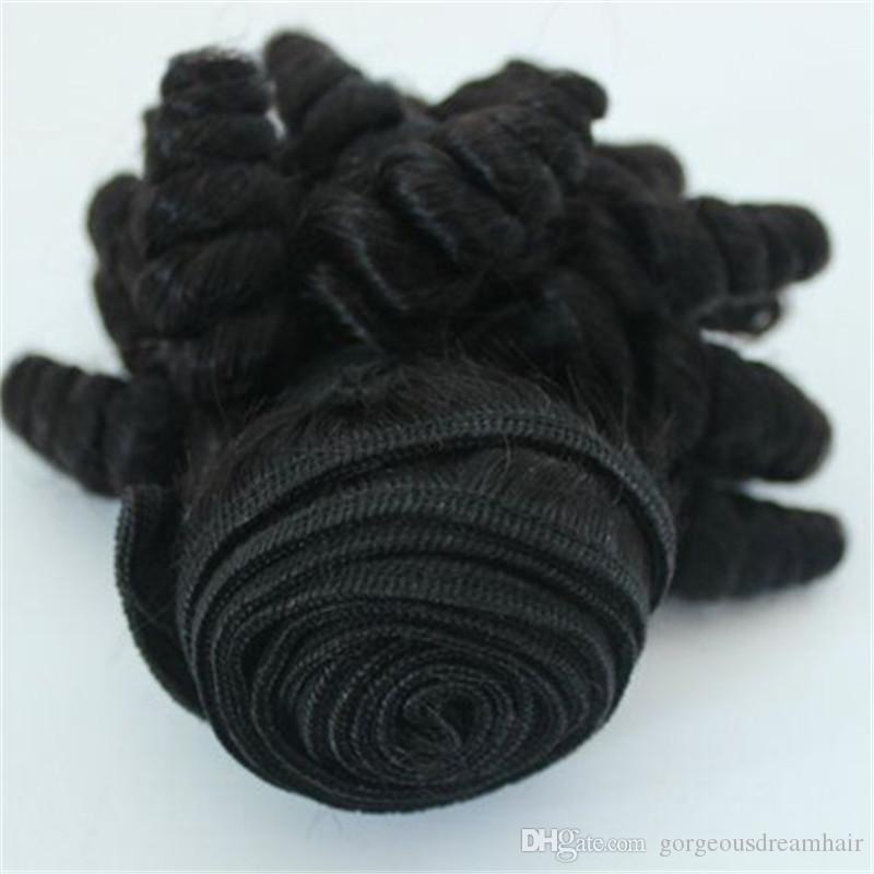 GorgeousDreamHair Riccioli gonfiabili non elaborati Capelli peruviani 100% Virgin Funmi Hair Egg Curl Romance Curl Brasiliano Estensioni dei capelli umani