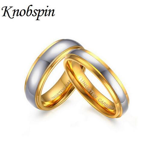 Women//Men Stainless Steel Wedding Rings Rose Gold Plated Jewelry 4MM Size 6-11