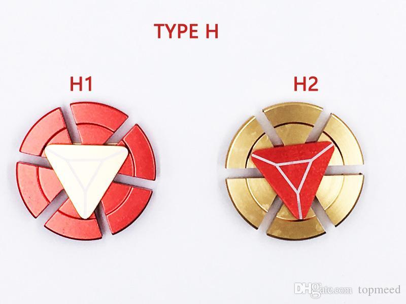 Fidget spinner Captain America shiled arc-en-main Rainbow tri-Fidget métal EDC Gyro Dragon ailes doigt jouets toupie en métal boîte 150