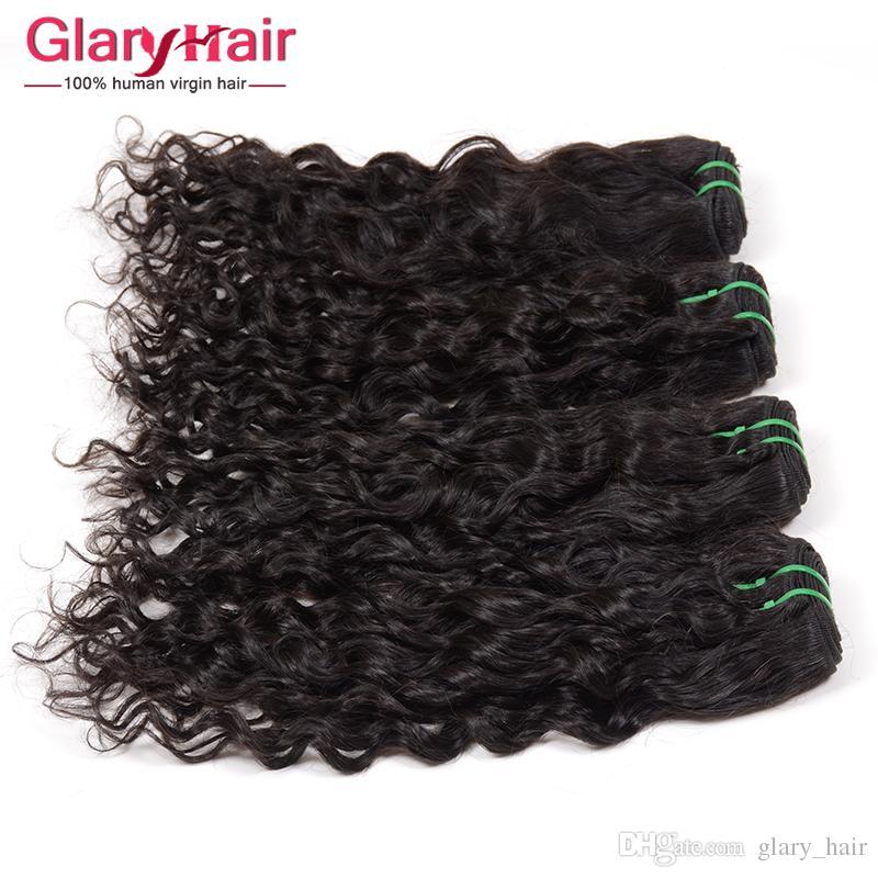 Glary Hot Sale Real Human Hair Extensions Wefts Mink Brazilian Hair Bundles Straight Unprocessed Virgin Hair Bundles 4 5 Free Ship