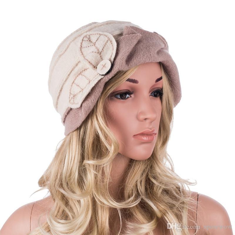 Clássico Das Senhoras das mulheres 1920 Gatsby Flapper Menina Estilo Lã Balde Gorros Cloche Tampão Do Inverno Chapéu A375
