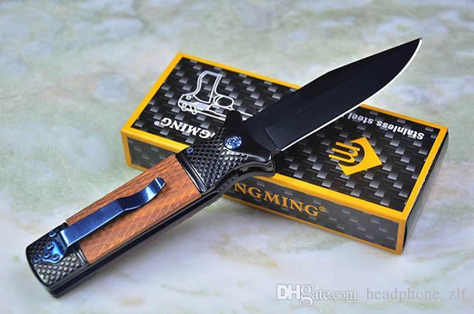 China Brand ChongMing CM73 Survival Folding Knife 440C 57HRC Titanium Blade EDC Pocket Knife New In Original Paper box package