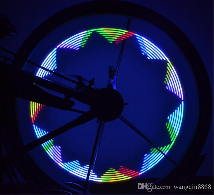 Double Faced Bicycle Spoke Light Wind Fire Wheels Silica Gel Spoke Light Steel Wire Lamp Mountain Bike Wheel Light - Red,Blue,Green and Mult
